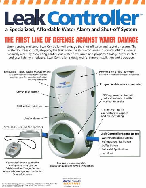 Leak Controller Water Alarm & Shut-Off System