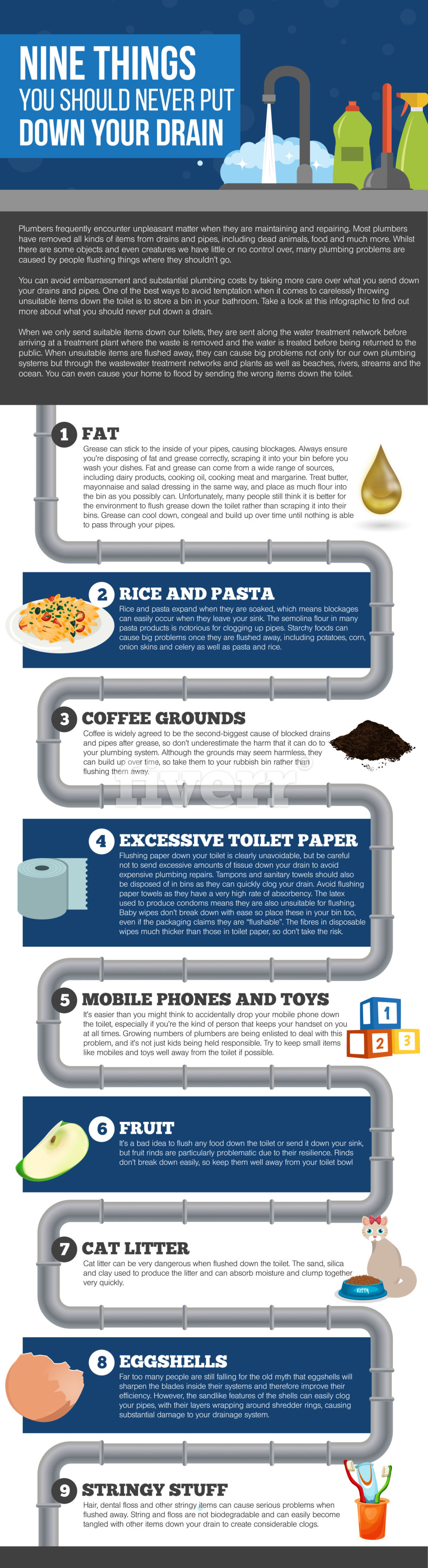 9 Things You Should Never Put Down Your Drain